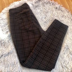 Women's Style&Co Curvy Skinny Leg Plaid Pants